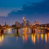 ноча frankfurt Стоковое Изображение RF