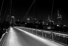 ноча frankfurt Стоковое фото RF