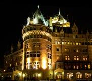 ноча frontenac замка Стоковое фото RF
