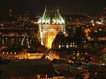 ноча frontenac замка Стоковое Фото
