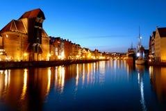 ноча gdansk Стоковые Фотографии RF