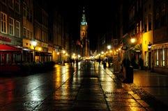 ноча gdansk Стоковая Фотография
