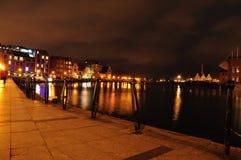ноча gdansk Стоковые Изображения RF