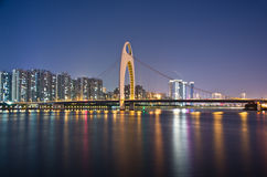 ноча guangzhou сценарная стоковая фотография