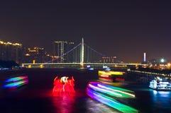 ноча guangzhou стоковое фото