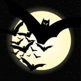 ноча halloween летучей мыши иллюстрация штока
