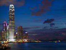 ноча Hong Kong Стоковое Изображение RF
