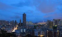 ноча Hong Kong Стоковая Фотография
