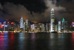 ноча Hong Kong Стоковые Фото
