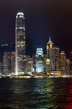 ноча Hong Kong Стоковые Фотографии RF
