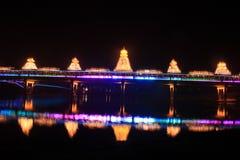 Ноча Huang Zhou Feng Yuqiao (моста ветр-дождя) Стоковые Фотографии RF