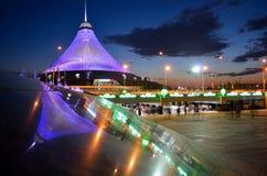 Ноча Khan Shatyr Стоковое Изображение RF