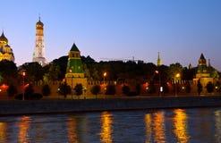 ноча kremlin moscow Россия Стоковая Фотография RF