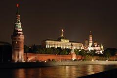 ноча kremlin moscow Стоковые Фото