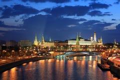 ноча kremlin moscow Стоковое Изображение