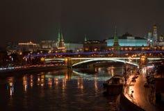 ноча kremlin moscow Стоковые Изображения