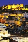 ноча lisbon города Стоковое Изображение