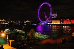 ноча london глаза Стоковые Фото