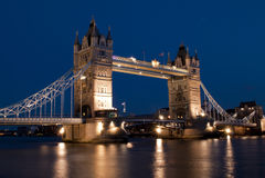 ноча london моста Стоковые Фото