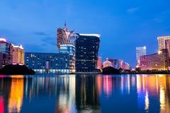 ноча macau города стоковое фото rf