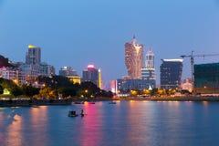 ноча macau города стоковые фотографии rf
