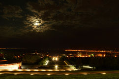 Ноча Mamaev Kurgan Стоковая Фотография RF