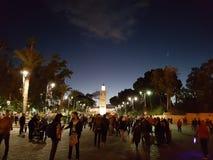 Ноча Marrakech, Марокко Стоковая Фотография