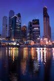 ноча moscow города делового центра Стоковое Фото