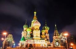 ноча moscow собора Стоковая Фотография RF