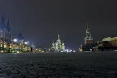 ноча moscow стоковое изображение