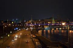 ноча moscow Стоковое Фото