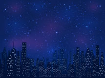 ноча moscow krilatskoe города Стоковые Изображения RF