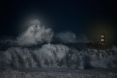 Ноча NE Атлантики Стоковое Изображение