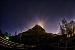 Ноча Panaroma в замке и звездах Kars Стоковые Изображения