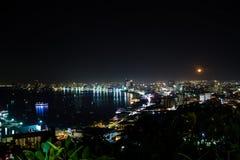 ноча pattaya города Стоковое Изображение