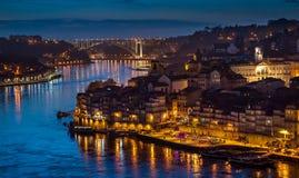 ноча porto стоковое фото
