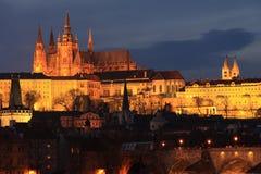ноча prague замока цветастая готская Стоковое Изображение