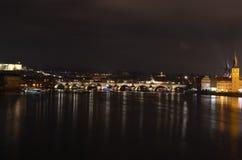ноча prague стоковое изображение