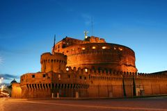 ноча roma Италии стоковое фото rf