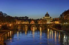 ноча rome vatican Стоковые Изображения