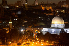 ноча s Иерусалима Стоковое Изображение
