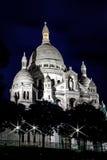 Ноча Sacre Coeur Стоковое Изображение