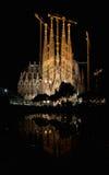 ноча sagrada familia передняя стоковые изображения rf