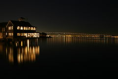 ноча san diego залива Стоковое Фото