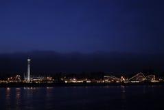 ноча santa cruz променада стоковое изображение rf