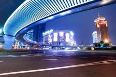 ноча shanghai города самомоднейшая Стоковое фото RF