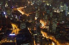ноча shanghai Стоковое фото RF