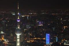 ноча shanghai Стоковая Фотография