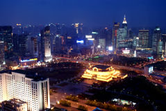 ноча shanghai Стоковое Изображение RF