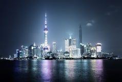 ноча shanghai Стоковые Изображения